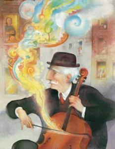 O violoncelo do sr. O
